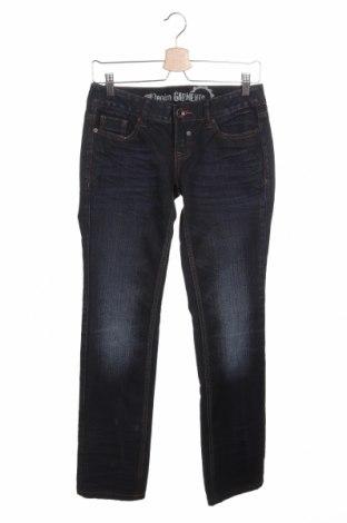 Дамски дънки Tom Tailor, Размер S, Цвят Син, Памук, Цена 66,00лв.