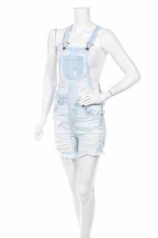 Дамски дънков гащеризон Met, Размер S, Цвят Син, 98% памук, 2% еластан, Цена 31,15лв.