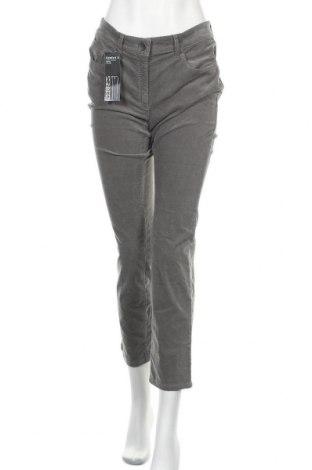 Pantaloni de velvet de femei Zerres, Mărime M, Culoare Gri, 66% bumbac, 32% viscoză, 2% elastan, Preț 121,58 Lei