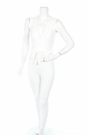 Дамски гащеризон Lipsy London, Размер XXS, Цвят Бял, 99% полиестер, 1% еластан, Цена 39,27лв.