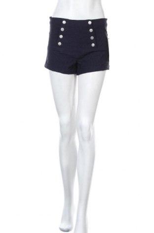 Дамски къс панталон Almost Famous, Размер M, Цвят Син, 77% вискоза, 20% полиамид, 3% еластан, Цена 37,80лв.