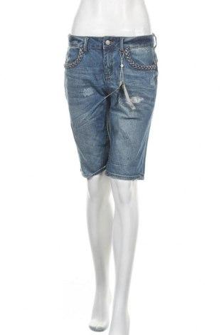 Γυναικείο κοντό παντελόνι Comma,, Μέγεθος S, Χρώμα Μπλέ, 98% βαμβάκι, 2% ελαστάνη, Τιμή 10,11€