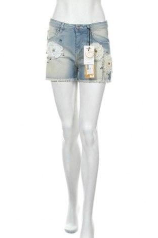 Дамски къс панталон Met, Размер S, Цвят Син, 98% памук, 2% еластан, Цена 51,75лв.