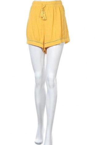 Дамски къс панталон Miss Shop, Размер XL, Цвят Жълт, Вискоза, Цена 6,04лв.