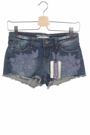 Дамски къс панталон Urban Surface, Размер XS, Цвят Син, 98% памук, 2% еластан, Цена 20,21лв.