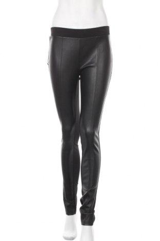 Дамски клин Tom Tailor, Размер XS, Цвят Черен, 66% вискоза, 30% полиамид, 4% еластан, еко кожа, Цена 51,75лв.
