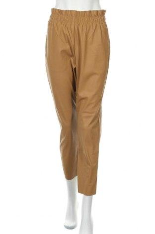 Γυναικείο παντελόνι δερμάτινο Michelle Keegan, Μέγεθος M, Χρώμα  Μπέζ, Δερματίνη, Τιμή 20,10€