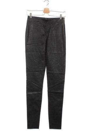 Дамски кожен панталон Y.A.S, Размер S, Цвят Черен, Естествена кожа, Цена 244,12лв.
