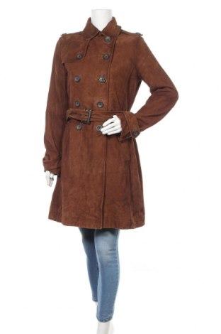 Дамски кожен шлифер Marc O'Polo, Размер M, Цвят Кафяв, Естествен велур, Цена 464,25лв.