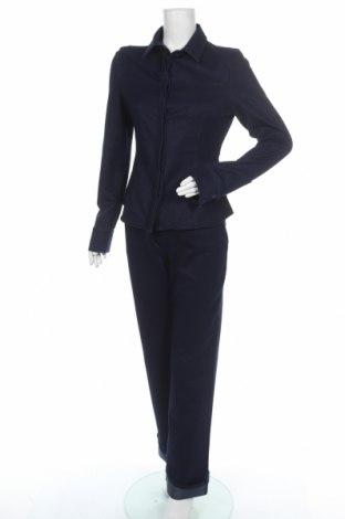 Дамски комплект Zara, Размер M, Цвят Син, 59% памук, 33% полиестер, 8% еластан, Цена 59,25лв.
