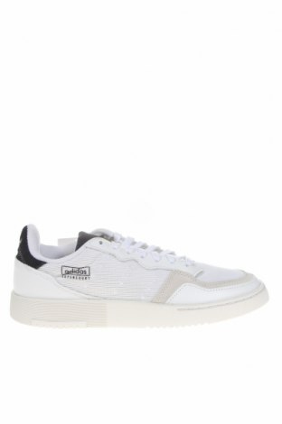 Γυναικεία παπούτσια Adidas, Μέγεθος 38, Χρώμα Λευκό, Γνήσιο δέρμα, φυσικό σουέτ, κλωστοϋφαντουργικά προϊόντα, Τιμή 30,45€