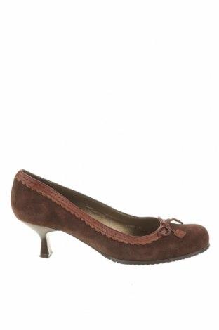 Дамски обувки Bruno Premi, Размер 39, Цвят Кафяв, Естествен велур, Цена 43,61лв.