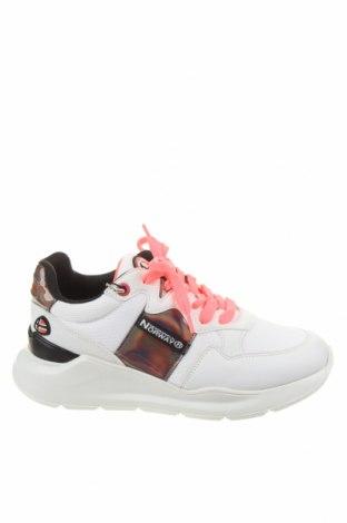 Γυναικεία παπούτσια Geographical Norway, Μέγεθος 38, Χρώμα Λευκό, Δερματίνη, κλωστοϋφαντουργικά προϊόντα, Τιμή 45,90€