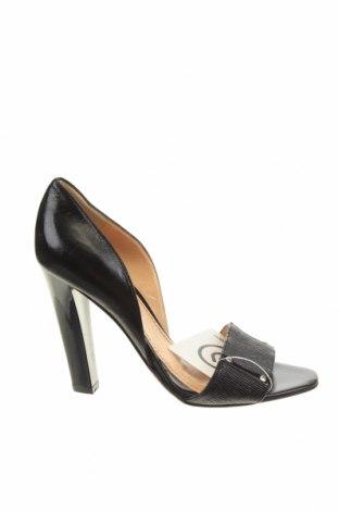 Дамски обувки Pollini, Размер 37, Цвят Черен, Естествена кожа, Цена 83,32лв.