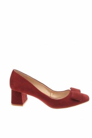 Дамски обувки Zara, Размер 39, Цвят Червен, Текстил, Цена 32,64лв.