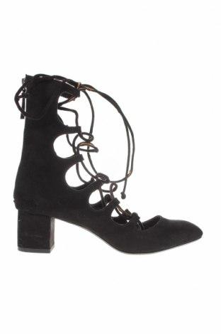 Дамски обувки Zara, Размер 39, Цвят Черен, Текстил, Цена 41,00лв.