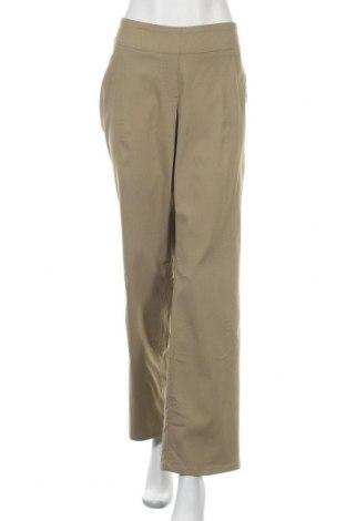 Дамски панталон, Размер XXL, Цвят Зелен, 74% вискоза, 22% полиамид, 4% еластан, Цена 29,93лв.