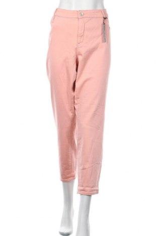 Γυναικείο παντελόνι A.N.A., Μέγεθος XXL, Χρώμα Ρόζ , 54% βαμβάκι, 34% βισκόζη, 10% πολυεστέρας, 2% ελαστάνη, Τιμή 25,72€
