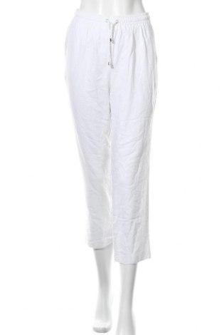 Γυναικείο παντελόνι Aniston, Μέγεθος S, Χρώμα Λευκό, 50% λινό, 50% βισκόζη, Τιμή 21,73€