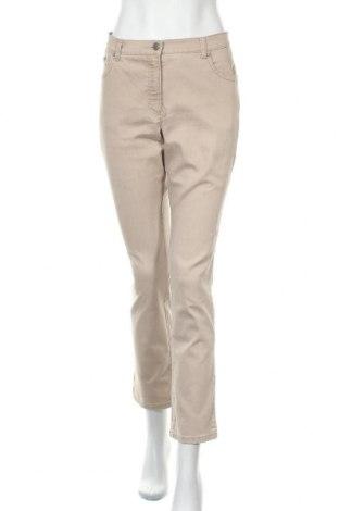Дамски панталон Brax, Размер M, Цвят Бежов, 78% памук, 18% полиестер, 4% еластан, Цена 13,38лв.