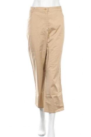 Дамски панталон Brax, Размер XL, Цвят Бежов, 96% памук, 4% еластан, Цена 70,09лв.