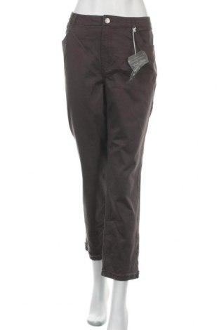 Дамски панталон Democracy, Размер XL, Цвят Сив, 99% памук, 1% еластан, Цена 28,56лв.