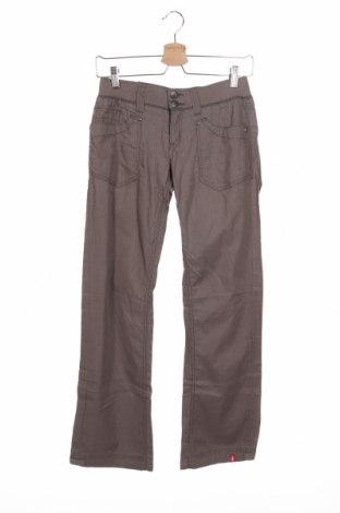 Дамски панталон Edc By Esprit, Размер XS, Цвят Кафяв, Лен, Цена 9,07лв.