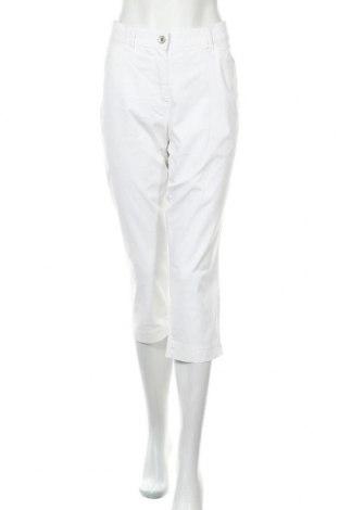 Дамски панталон Gerry Weber, Размер L, Цвят Бял, 98% памук, 2% еластан, Цена 33,75лв.