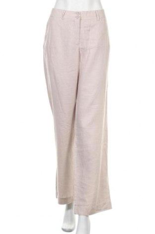 Γυναικείο παντελόνι Madeleine, Μέγεθος XL, Χρώμα  Μπέζ, Λινό, Τιμή 27,28€