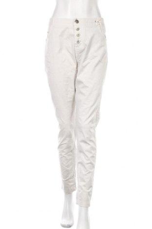 Дамски панталон Maryley, Размер L, Цвят Екрю, 97% памук, 3% еластан, Цена 33,86лв.
