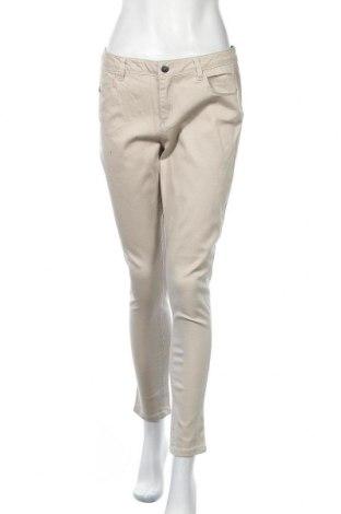 Дамски панталон Now, Размер L, Цвят Бежов, Памук, еластан, Цена 5,51лв.