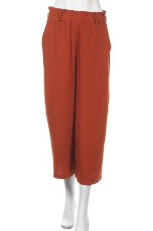 Дамски панталон Pieces, Размер M, Цвят Оранжев, Полиестер, Цена 22,05лв.