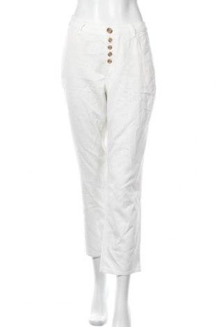 Dámské kalhoty  S.Oliver, Velikost XL, Barva Bílá, 54% bavlna, 46% lyocell, Cena  286,00Kč