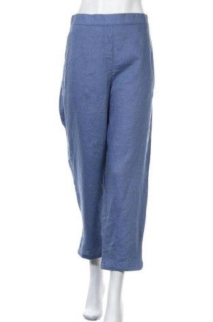 Γυναικείο παντελόνι Sussan, Μέγεθος XXL, Χρώμα Μπλέ, Λινό, Τιμή 27,28€