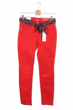 Γυναικείο παντελόνι Tom Tailor, Μέγεθος XS, Χρώμα Κόκκινο, 98% βαμβάκι, 2% ελαστάνη, Τιμή 20,77€