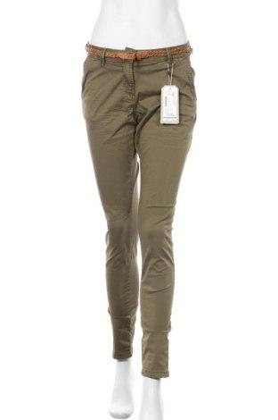 Γυναικείο παντελόνι Tom Tailor, Μέγεθος S, Χρώμα Πράσινο, 97% βαμβάκι, 3% ελαστάνη, Τιμή 27,69€