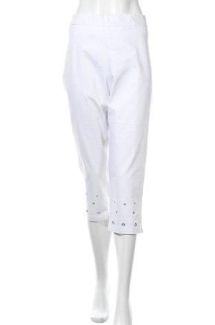 Γυναικείο παντελόνι W. Lane, Μέγεθος XXL, Χρώμα Λευκό, 65% βαμβάκι, 33% πολυεστέρας, 2% ελαστάνη, Τιμή 14,19€