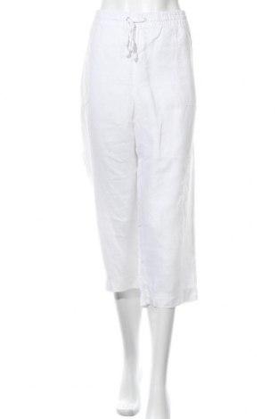 Γυναικείο παντελόνι W. Lane, Μέγεθος XXL, Χρώμα Λευκό, Λινό, Τιμή 18,84€