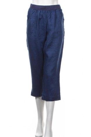 Γυναικείο παντελόνι W. Lane, Μέγεθος XL, Χρώμα Μπλέ, Λινό, Τιμή 14,94€
