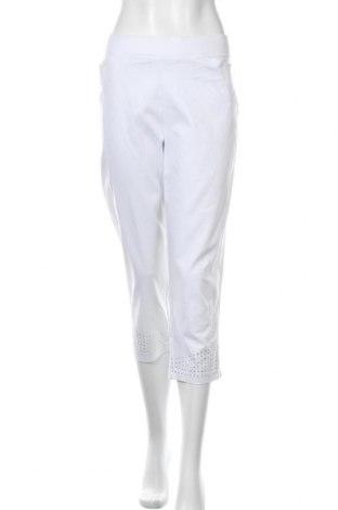 Γυναικείο παντελόνι W. Lane, Μέγεθος XL, Χρώμα Λευκό, Βαμβάκι, πολυαμίδη, ελαστάνη, Τιμή 15,59€