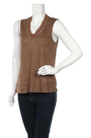 Γυναικείο αμάνικο μπλουζάκι, Μέγεθος M, Χρώμα Καφέ, Τιμή 9,09€
