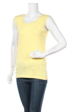Γυναικείο αμάνικο μπλουζάκι Charles Vogele, Μέγεθος M, Χρώμα Κίτρινο, 95% βαμβάκι, 5% ελαστάνη, Τιμή 2,95€