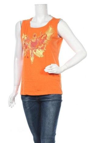 Γυναικείο αμάνικο μπλουζάκι Charles Vogele, Μέγεθος M, Χρώμα Πορτοκαλί, Βαμβάκι, Τιμή 3,86€