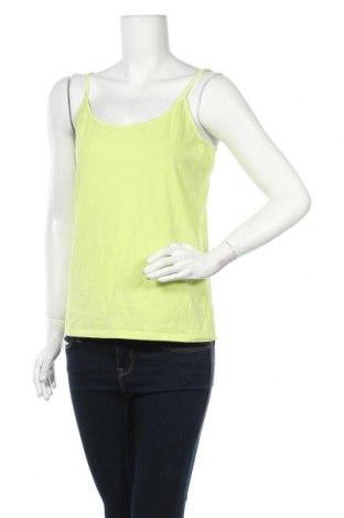 Γυναικείο αμάνικο μπλουζάκι Charles Vogele, Μέγεθος L, Χρώμα Πράσινο, 95% βαμβάκι, 5% ελαστάνη, Τιμή 7,17€