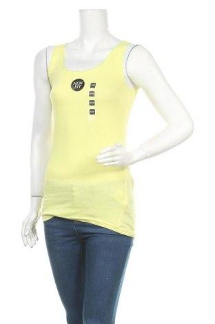 Дамски потник Colours Of The World, Размер XXS, Цвят Жълт, 95% памук, 5% еластан, Цена 23,63лв.