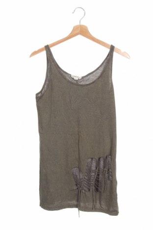 Γυναικείο αμάνικο μπλουζάκι Diesel, Μέγεθος XS, Χρώμα Πράσινο, Τιμή 15,31€