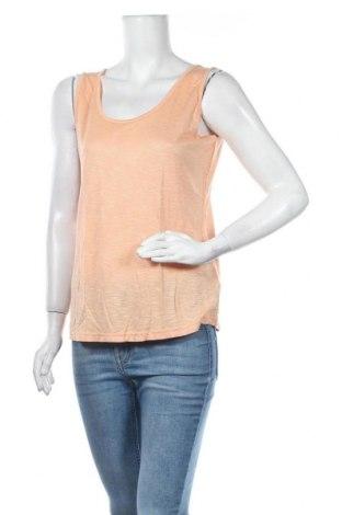 Γυναικείο αμάνικο μπλουζάκι Elle Nor, Μέγεθος M, Χρώμα Πορτοκαλί, Βισκόζη, Τιμή 8,44€