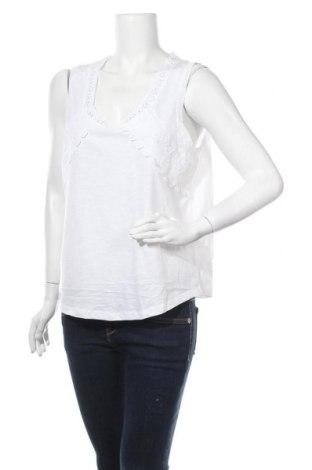 Γυναικείο αμάνικο μπλουζάκι Suzanne Grae, Μέγεθος L, Χρώμα Λευκό, 65% πολυεστέρας, 35% βαμβάκι, Τιμή 9,94€