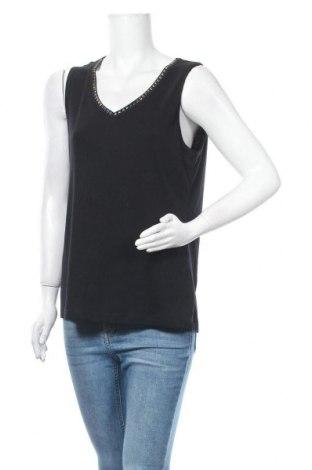 Γυναικείο αμάνικο μπλουζάκι Suzanne Grae, Μέγεθος XL, Χρώμα Μαύρο, Πολυεστέρας, βαμβάκι, Τιμή 5,20€