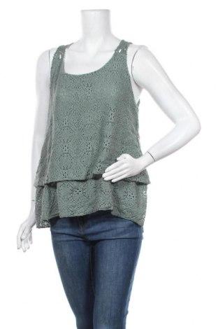 Γυναικείο αμάνικο μπλουζάκι Today, Μέγεθος S, Χρώμα Πράσινο, 50% βαμβάκι, 50% βισκόζη, Τιμή 11,04€